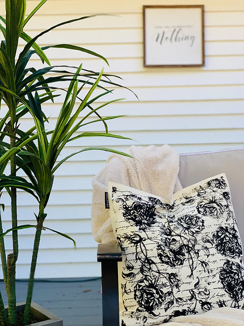 Chalk INK Home Decor Pillow