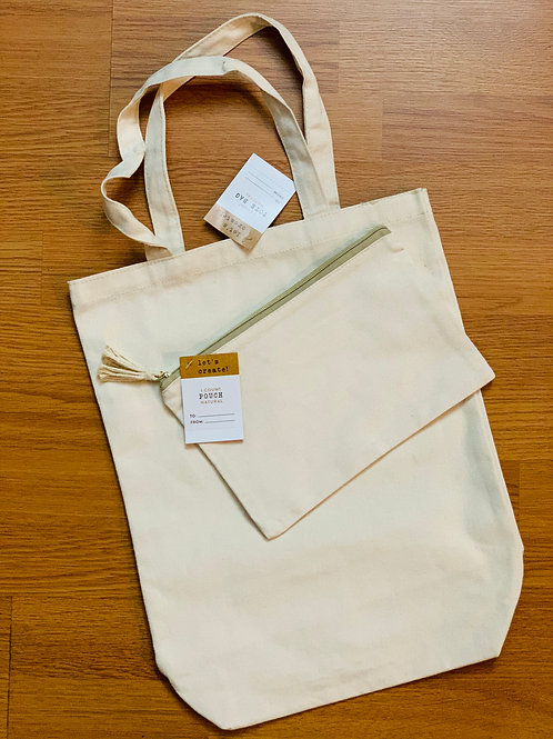 Customize Tote Bag & Pouch Set