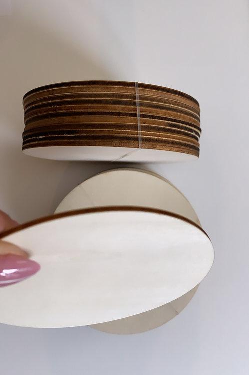 4inch Round Wood Discs, 12 pak+1