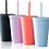 Thumbnail: Custom Tumbler Cup with straw