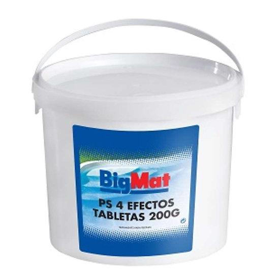 CLORO BIGMAT 4 EFECTOS TAB. 200GR - 5KG