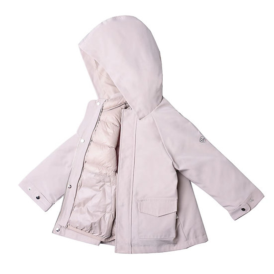 down jacket with removable hoodie