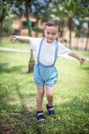 felix & mina dress boys vintage straps shorts, two ways wearable