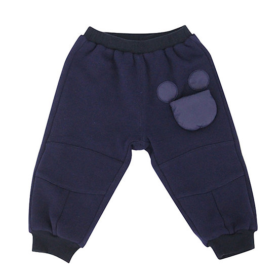 Sweat  trousers with movable Mickey Mouse bag navy blue