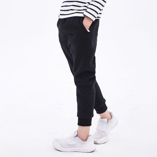 two layers winter sweatpants with facing pocket, inner fleece and cotton