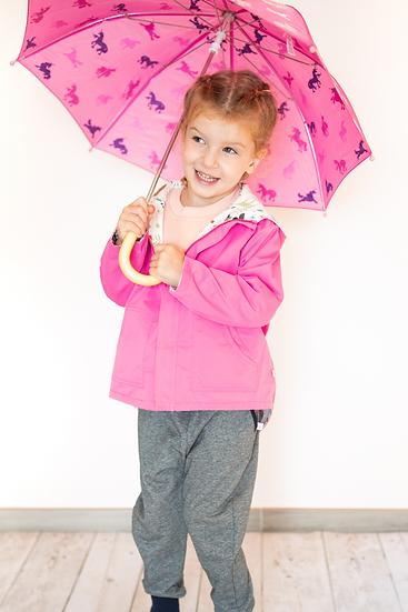 wonderland series reversible jacket, passionate pink