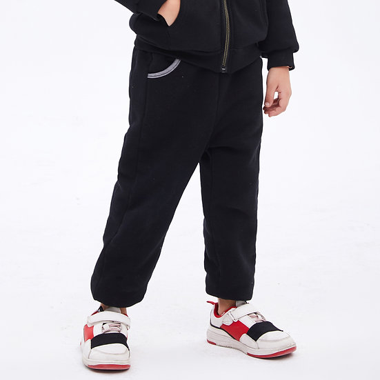 playmate print series thick two layers winter sweatpants with side felix&mina