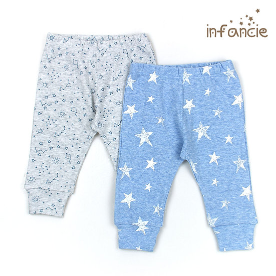Set of 2 pants with stars print