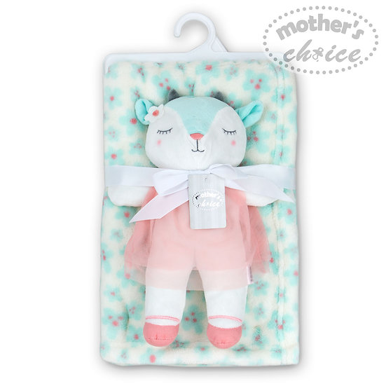 Plush blanket with a cute toy