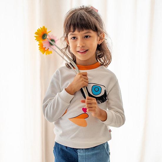artist design series- sweatshirt with blinking eye with tassel eyelashes