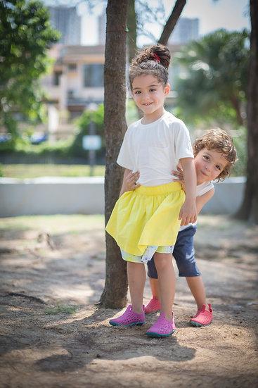 felix & mina girl's double-side wearable skirt with fireworks print