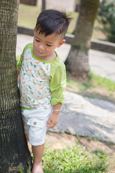 felix & mina unisex  cotton Top with insects print