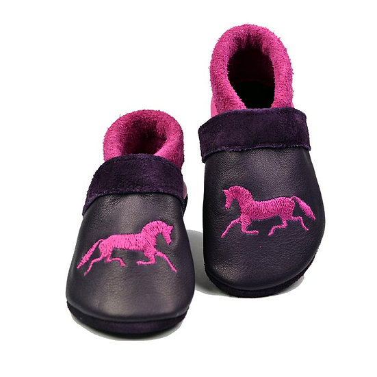 running pony - dark fuchsia