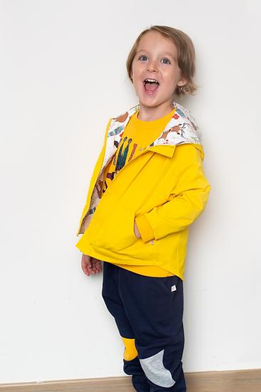 wonderland series reversible jacket, sunflower golden