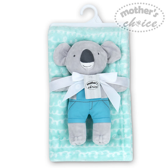 Plush blanket with a Koala toy