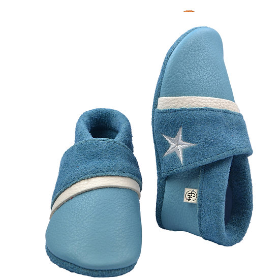 blue white little star - with outdoor sole