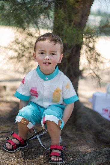 felix & mina summer shorts with ice creme print