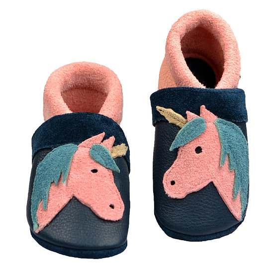 happy unicorn pink blue