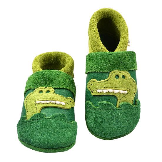 smilling little crocodile - green