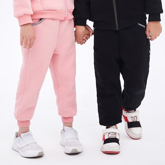 playmate print series thick two layers winter sweatpants with side felix