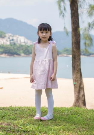 felix & mina girl's cute reversible lace-up dress