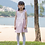 Thumbnail: felix & mina girl's cute reversible lace-up dress