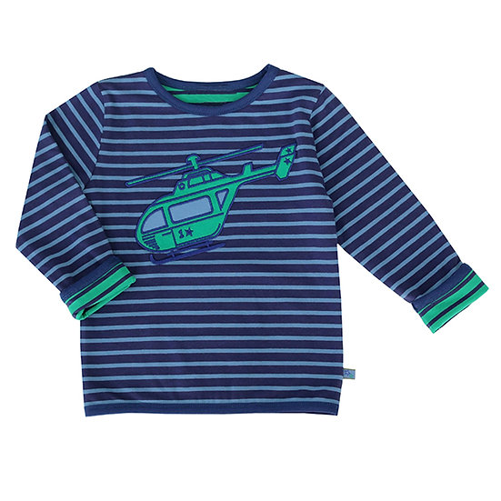 longsleeve with helicopter by Enfant & Terrible, double-side