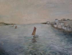 """""""Adrift"""" 48x50"""" (sold)."""