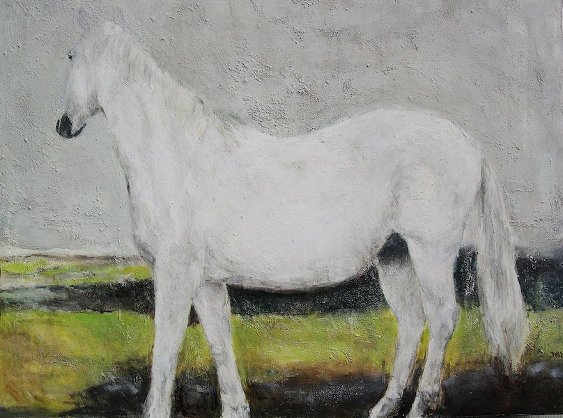 """Shadow Cheval"" 36x40""."