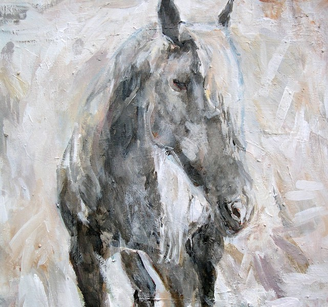 """Silver Horse"" 22x24"" (sold)."
