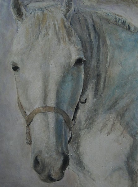 """Cheval Bleu"" 26x35""(sold)."