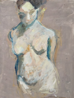 """Figure in Gray"" 31x21""private coll."