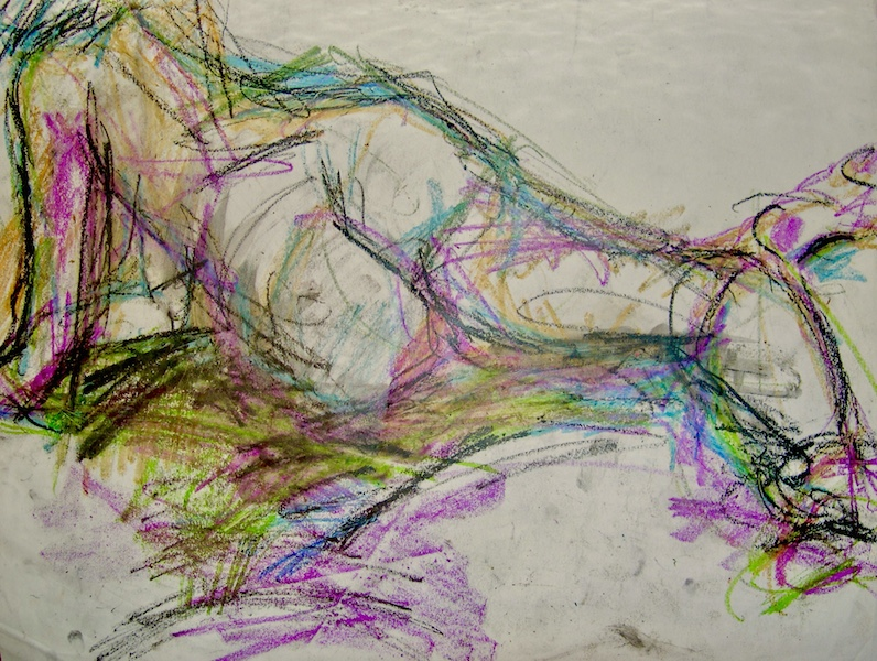 """Abstract Figurative Drawing"" 20x22"""
