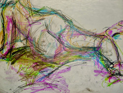 """""""Abstract Figurative Drawing"""" 20x22"""""""