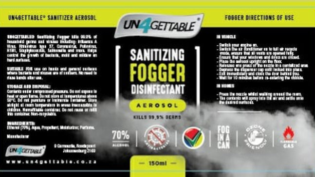 Un4Gettable Sanitizing Fogger