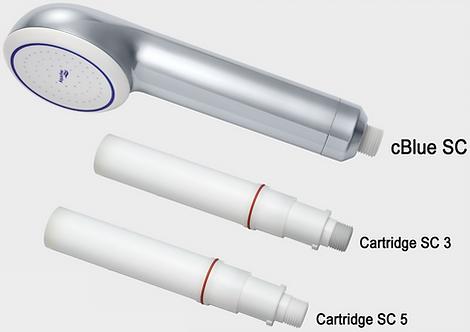 3 month cartridge for Aqua Free C Blue Legionella POU Shower Filter