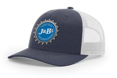 Navy Bottle Cap Trucker Hat