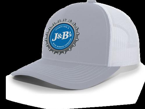 Grey Bottle Cap Trucker Hat