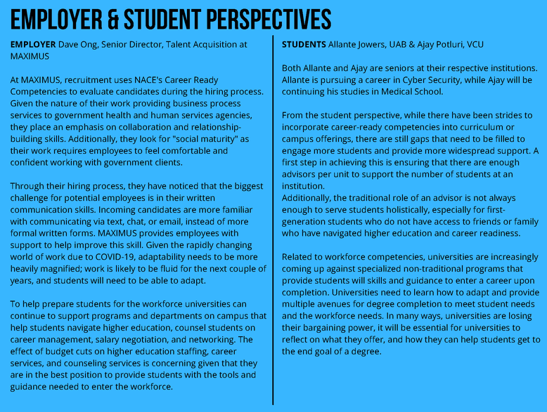 Employer & Student Perspectives