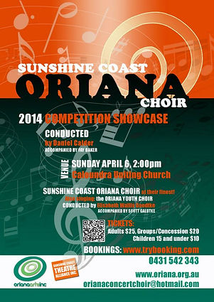 Oriana Concert: 2014 Showcase