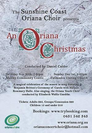 Oriana Concert: An Oriana Christmas
