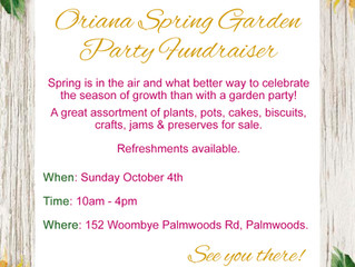 Oriana Inaugural Spring Garden Party