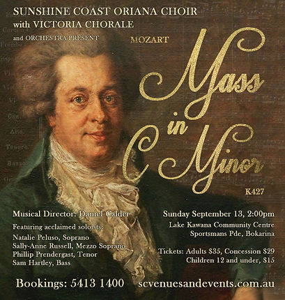 Oriana Concert: Mozart Mass in C minor