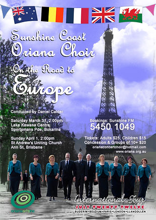 Oriana Concert: On the Road to Europe