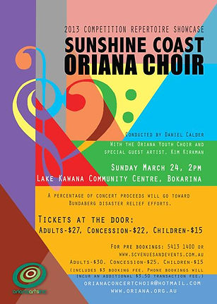 Oriana Concert: 2013 Showcase