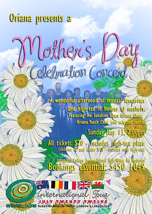 Oriana Concert: Mother's Day Celebration 2012