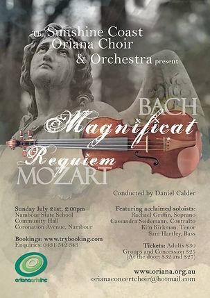 Oriana Concert: Bach Magnificat & Mozart Requiem