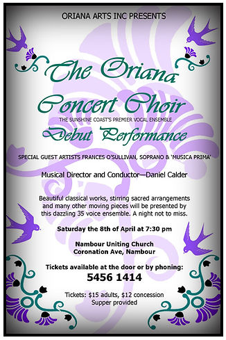 Oriana Concert: Debut Performance