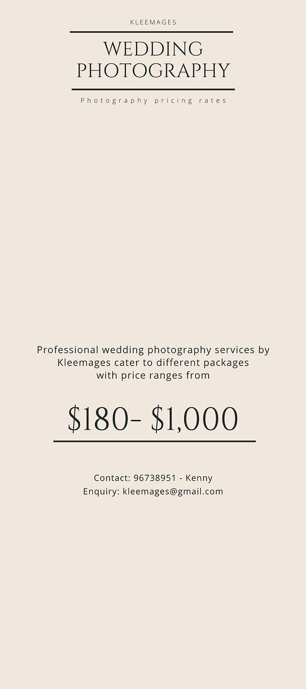 Cream Wedding Photography Rack Card (4).