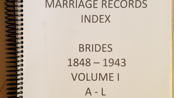 Cameron County Texas Marriage Records Index. Brides 1848-1943 Vol 1